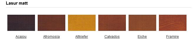 Mögliche Lasuren für unsere Holzfenster