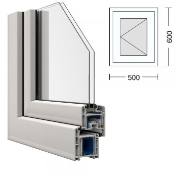 Fabulous Fenster VEKA 50 x 60 cm Dreh rechts BA24
