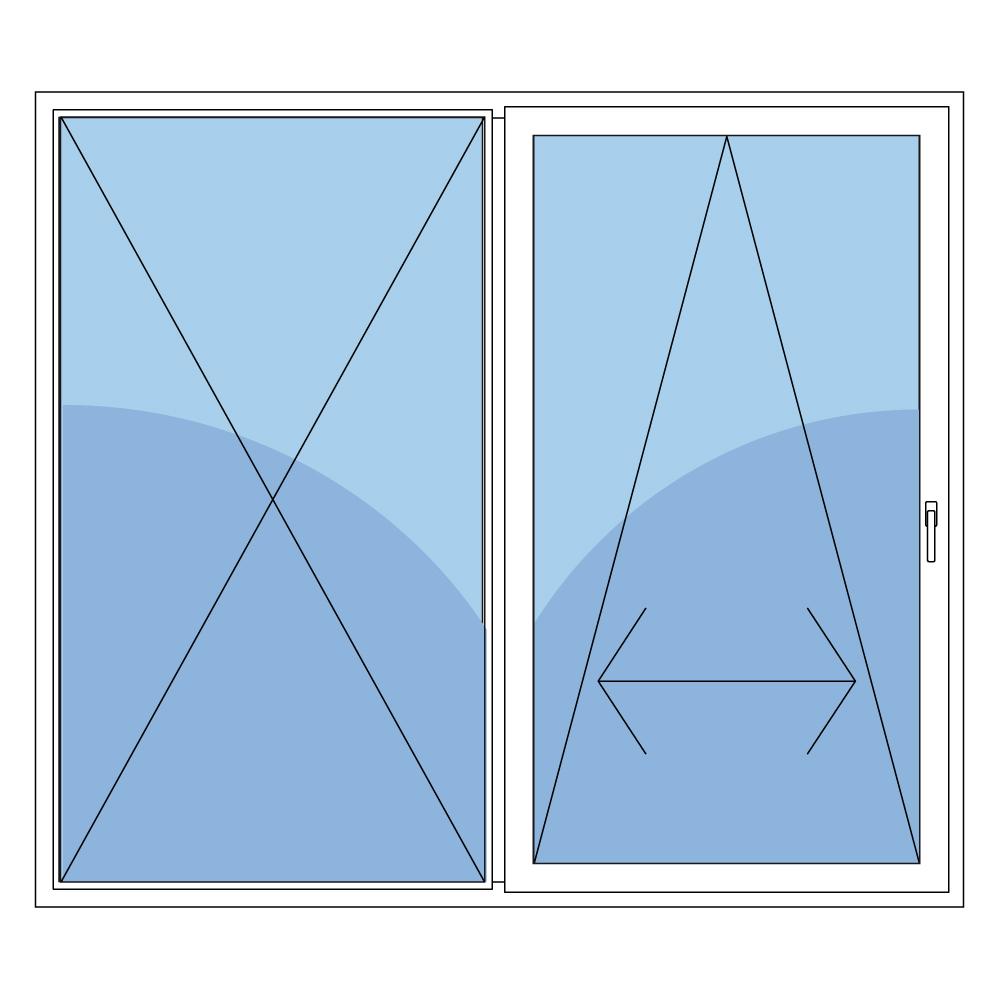 schiebet r aus holz mit griff rechts in wei mit 3fach. Black Bedroom Furniture Sets. Home Design Ideas