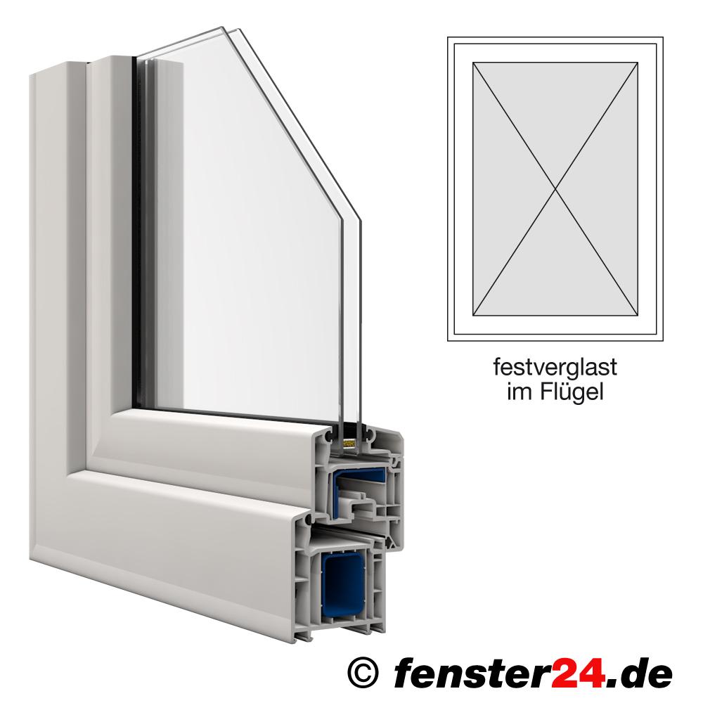 veka kunststofffenster breite 700mm x w hlbare h he festverglast im fl gel in wei. Black Bedroom Furniture Sets. Home Design Ideas