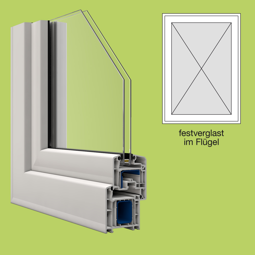 Veka kunststofffenster breite 700mm x w hlbare h he for Fenster shop 24