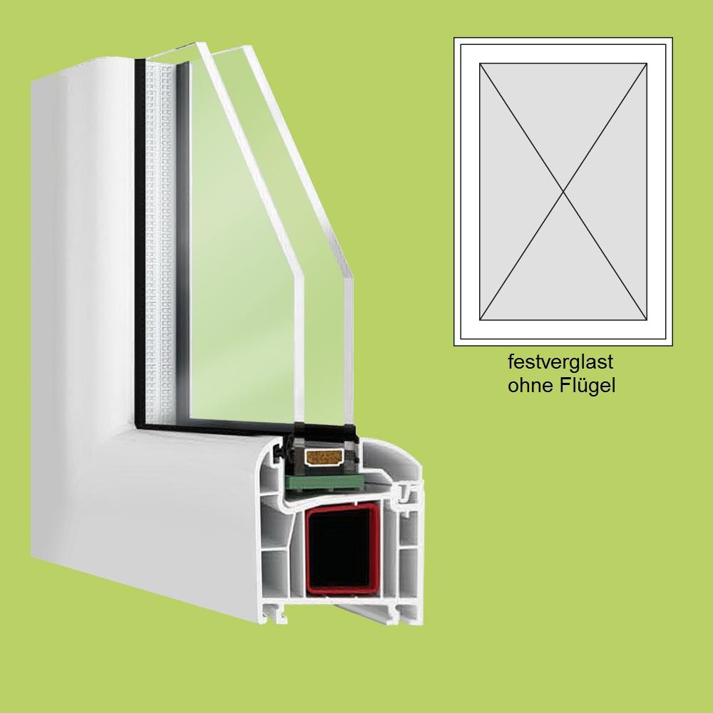 Kunststofffenster Breite 900mm Höhe und Ausstattung wählbar
