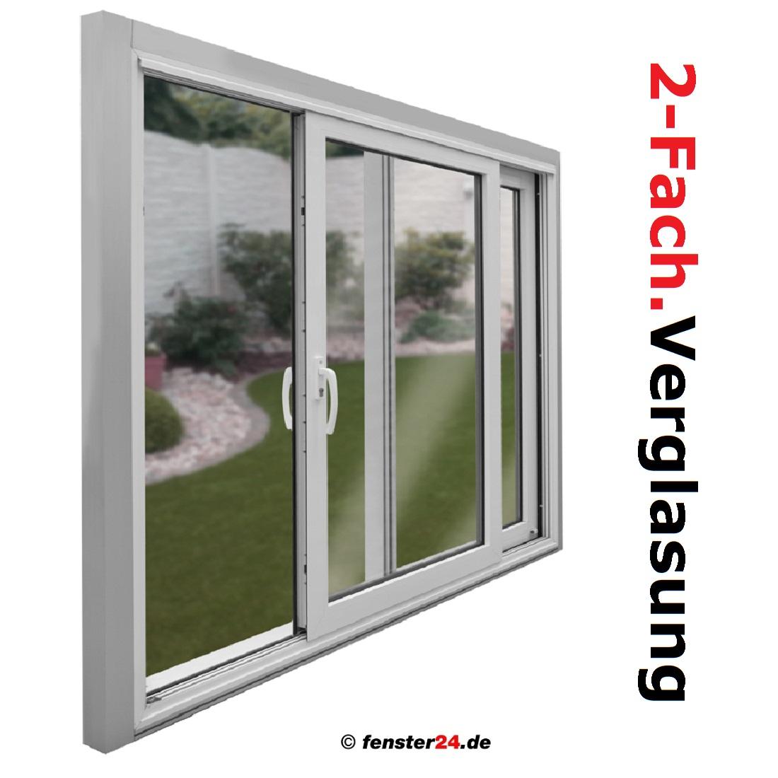 Kunststoff hebe schiebet r breite 5300mm x w hlbare h he for Fenster 2fach oder 3fach verglasung