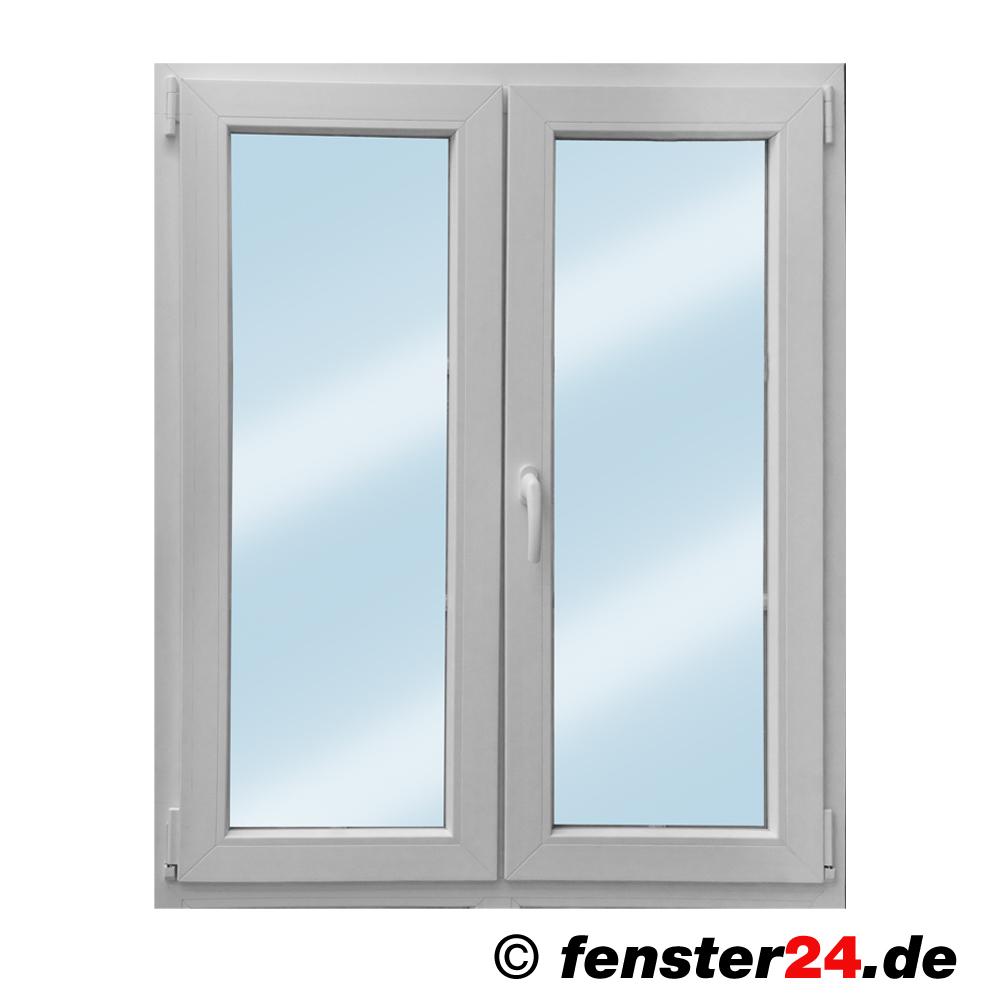 Zweiflügeliges KBE Kunststofffenster weiß mit Stulp, Breite 1700mm x
