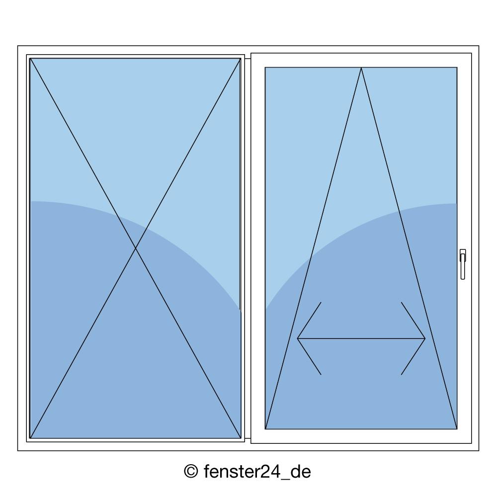 Schiebet r aus holz mit griff rechts in wei mit 2fach for Fenster shop 24