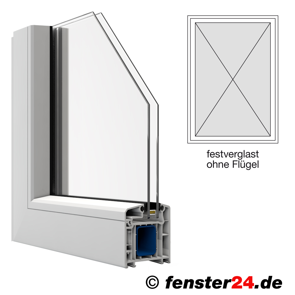 veka kunststofffenster breite 500mm x w hlbare h he feststehend ohne fl gel in wei. Black Bedroom Furniture Sets. Home Design Ideas
