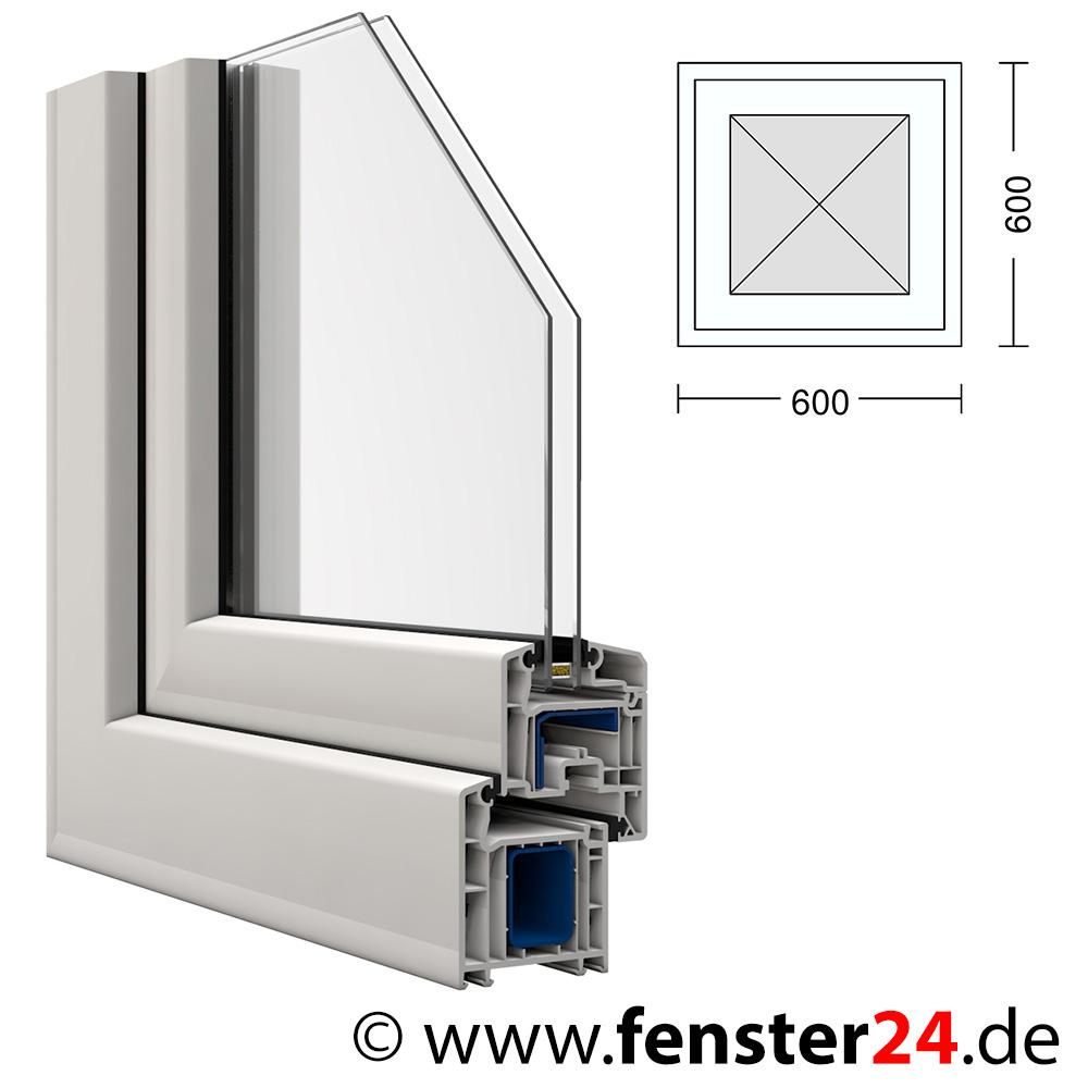 Kunststoff fenster veka 60 x 60 cm festverglast im fl gel for Fenster 60x60