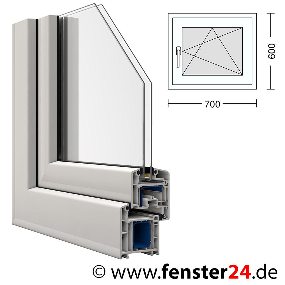 kunststoff fenster veka 70 x 60 cm dreh kipp rechts. Black Bedroom Furniture Sets. Home Design Ideas