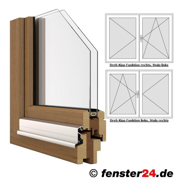 iv68 holzfenster 2 fl gelig dreh kipp stulp breite 1760mm x w hlbare h he in wei lackiert. Black Bedroom Furniture Sets. Home Design Ideas