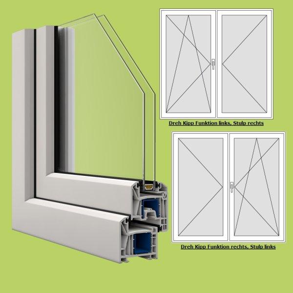 Zweifl gelige veka terrassent r breite 1200mm x w hlbare for Fenster shop 24