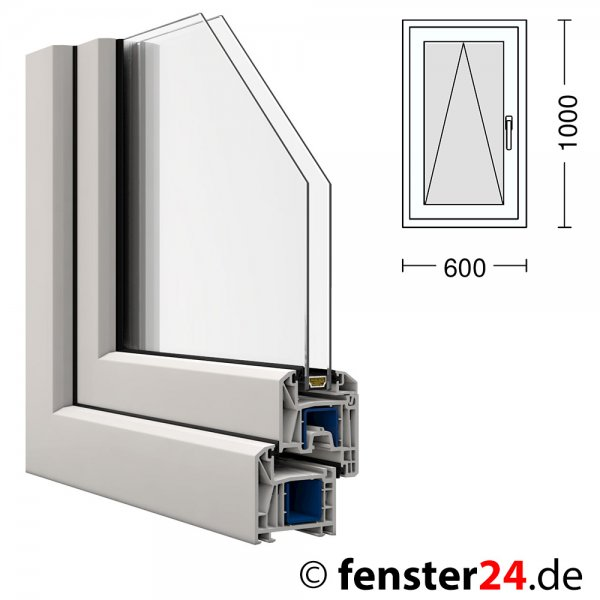 Kunststoff fenster kbe 60x100cm kipp griff rechts ebay for Fenster 70x60