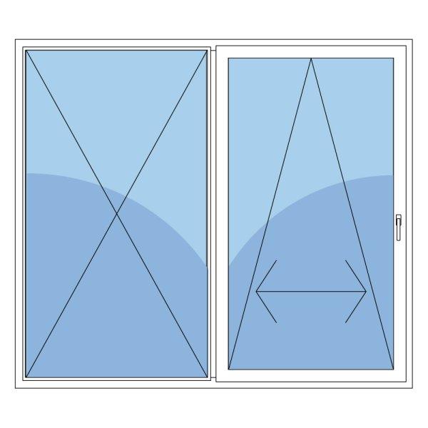 schiebet r aus holz mit griff rechts in wei mit 2fach. Black Bedroom Furniture Sets. Home Design Ideas