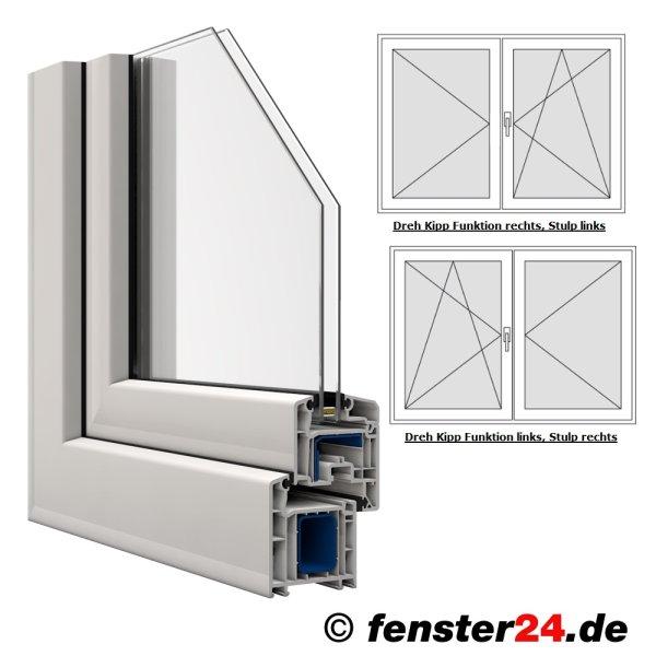 zweifl geliges veka kunststofffenster in wei breite 1000mm x w hlbare h he dreh kipp und. Black Bedroom Furniture Sets. Home Design Ideas