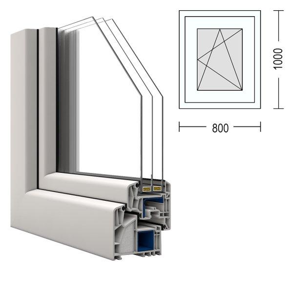 passivhaus fenster veka alphaline 90 80x100cm dreh kipp rechts. Black Bedroom Furniture Sets. Home Design Ideas